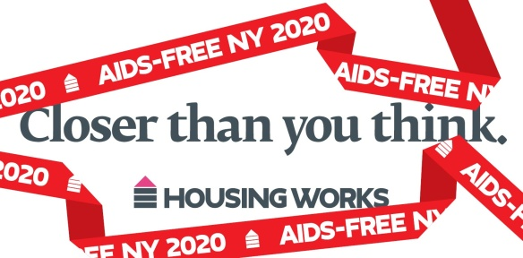 A graphic from the newly branded Housing Works AiDS-FREE NY 2020 campaign.